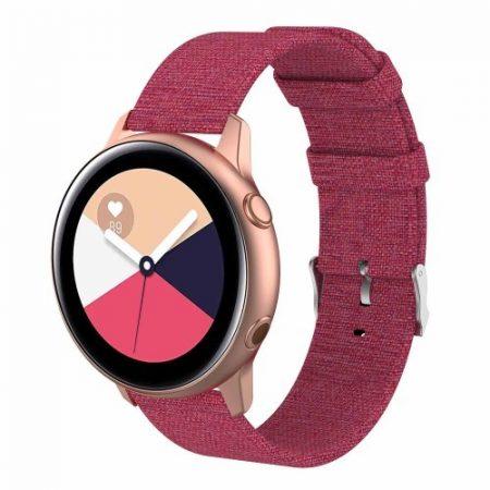 Samsung Galaxy Watch Active Óraszíj - Pótszíj Textil Canvas Pink
