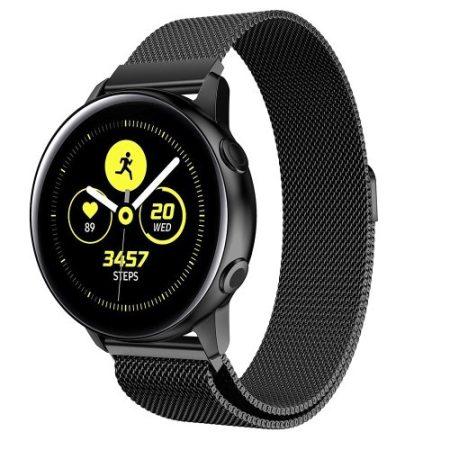 Samsung Galaxy Watch Active SM-R500 FémSzíj - Pótszíj Mágneses Fekete