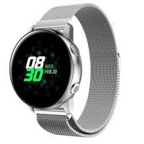 Samsung Galaxy Watch Active SM-R500 FémSzíj - Pótszíj Mágneses Ezüst