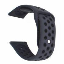 Samsung Galaxy Watch Active Óraszíj - Pótszíj SM-R500 Szilikon Hollow Style Lyukacsos Fekete