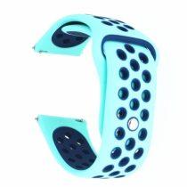 Samsung Galaxy Watch Active Óraszíj - Pótszíj SM-R500 Szilikon Hollow Style Lyukacsos Világoskék/Sötétkék