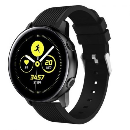 Szilikon Óraszíj - Pótszíj Samsung Galaxy Active SM-R500 Sport Style Series Fekete