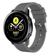 Szilikon Óraszíj - Pótszíj Samsung Galaxy Active SM-R500 Sport Style Series Szürke