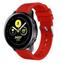 Szilikon Óraszíj - Pótszíj Samsung Galaxy Active SM-R500 Sport Style Series Piros