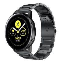 Samsung Galaxy Watch Active Pótszíj Óraszíj SM-R500 Fémszíj - Fekete