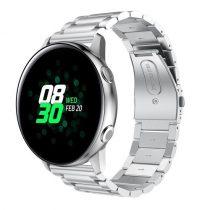 Samsung Galaxy Watch Active Pótszíj Óraszíj SM-R500 Fémszíj - Ezüst