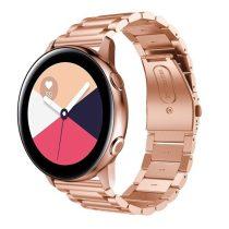 Samsung Galaxy Watch Active Pótszíj Óraszíj SM-R500 Fémszíj - Rózsaarany