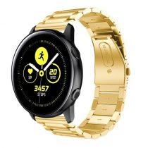 Samsung Galaxy Watch Active Pótszíj Óraszíj SM-R500 Fémszíj - Arany
