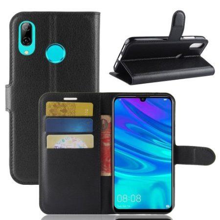 Huawei P30 Lite Notesz Tok Business Series Kitámasztható Bankkártyatartóval Fekete
