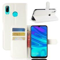 Huawei P30 Lite Notesz Tok Business Series Kitámasztható Bankkártyatartóval Fehér