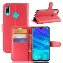 Huawei P30 Lite Notesz Tok Business Series Kitámasztható Bankkártyatartóval Piros