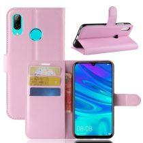 Huawei P30 Lite Notesz Tok Business Series Kitámasztható Bankkártyatartóval Rózsaszín