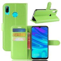 Huawei P30 Lite Notesz Tok Business Series Kitámasztható Bankkártyatartóval Zöld