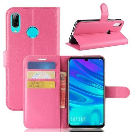 Huawei P30 Lite Notesz Tok Business Series Kitámasztható Bankkártyatartóval Pink
