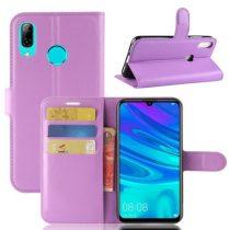 Huawei P30 Lite Notesz Tok Business Series Kitámasztható Bankkártyatartóval Lila