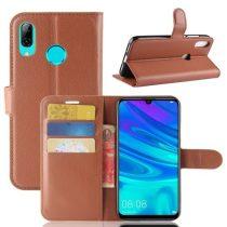 Huawei P30 Lite Notesz Tok Business Series Kitámasztható Bankkártyatartóval Barna