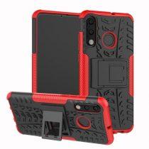 Huawei P30 Lite Ütésálló Tok Kitámasztható 2in1 Hybrid Piros
