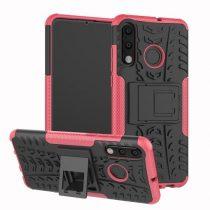 Huawei P30 Lite Ütésálló Tok Kitámasztható 2in1 Hybrid Pink