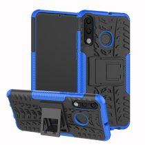 Huawei P30 Lite Ütésálló Tok Kitámasztható 2in1 Hybrid Kék