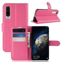 Huawei P30 Notesz Tok Business Series Kitámasztható Bankkártyatartóval Pink