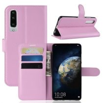 Huawei P30 Notesz Tok Business Series Kitámasztható Bankkártyatartóval Rózsaszín