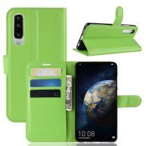 Huawei P30 Notesz Tok Business Series Kitámasztható Bankkártyatartóval Zöld