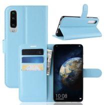 Huawei P30 Notesz Tok Business Series Kitámasztható Bankkártyatartóval Világoskék