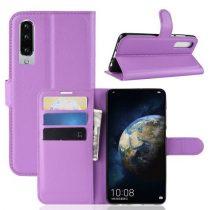 Huawei P30 Notesz Tok Business Series Kitámasztható Bankkártyatartóval Lila