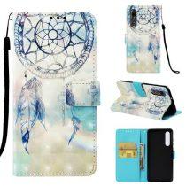 Huawei P30 Bankkártyatartóval Notesz Mintás Kitámasztható -RMPACK- SummerSeries SS04