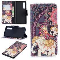 Huawei P30 Notesz Tok Mintás Kitámasztható-Bankkártyatartóval -RMPACK- Style Life&Dreams LD05