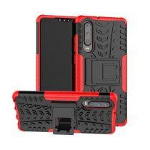 Huawei P30 Ütésálló Tok Kitámasztható 2in1 Hybrid Piros