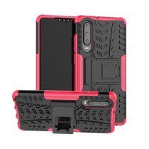 Huawei P30 Ütésálló Tok Kitámasztható 2in1 Hybrid Pink