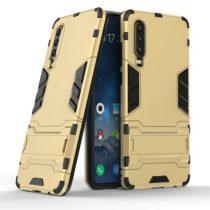 Huawei P30 - 2in1 Tok Ütésálló - Kitámasztható TPU Hybrid Arany