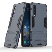 Huawei P30 - 2in1 Tok Ütésálló - Kitámasztható TPU Hybrid Sötétkék