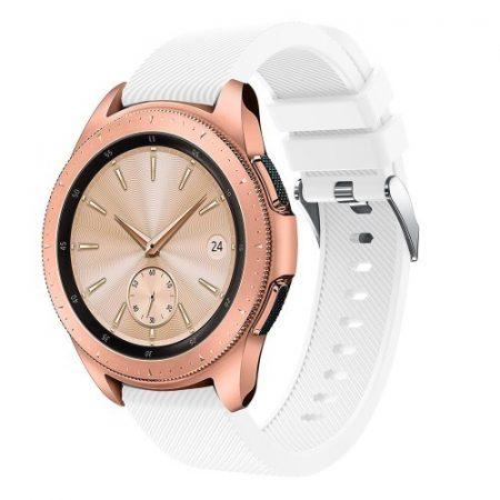 Samsung Galaxy Watch 42mm Szíj Sport Style Series Szilikon Pótszíj Fehér