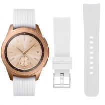 Samsung Galaxy Watch 42mm Óraszíj - Pótszíj Szilikon Stripe Texture Style RMPACK Fehér