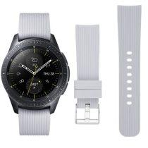 Samsung Galaxy Watch 42mm Óraszíj - Pótszíj Szilikon Stripe Texture Style RMPACK Szürke