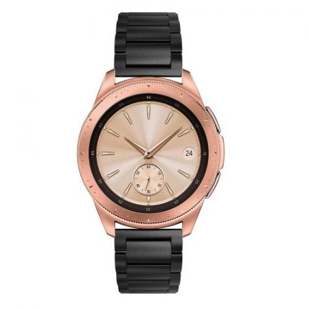 Samsung Galaxy Watch 42mm Pótszíj Fémszíj Óraszíj - Fekete
