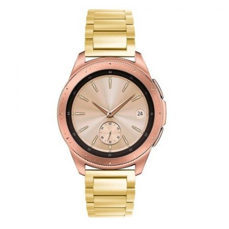 Samsung Galaxy Watch 42mm Pótszíj Fémszíj Óraszíj - Arany