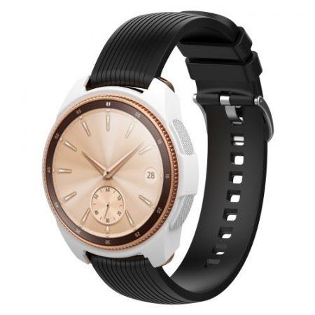 Samsung Galaxy Watch 42mm Szilikon Tok - Keretvédelemmel Fehér