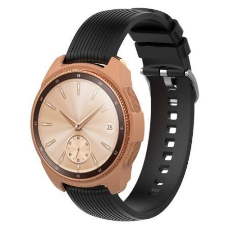 Samsung Galaxy Watch 42mm Szilikon Tok - Keretvédelemmel Arany