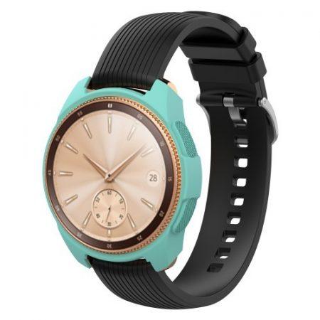 Samsung Galaxy Watch 42mm Szilikon Tok - Keretvédelemmel Cián