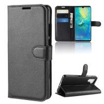 Huawei P30 Pro Notesz Tok Business Series Kitámasztható Bankkártyatartóval Fekete