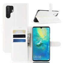 Huawei P30 Pro Notesz Tok Business Series Kitámasztható Bankkártyatartóval Fehér