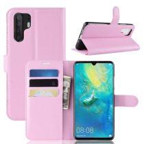 Huawei P30 Pro Notesz Tok Business Series Kitámasztható Bankkártyatartóval Rózsaszín