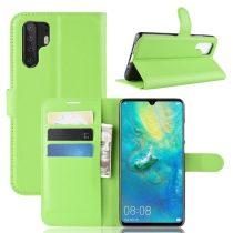 Huawei P30 Pro Notesz Tok Business Series Kitámasztható Bankkártyatartóval Zöld