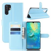 Huawei P30 Pro Notesz Tok Business Series Kitámasztható Bankkártyatartóval Világoskék
