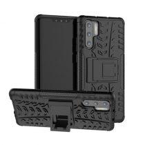 Huawei P30 Pro Ütésálló Tok Kitámasztható 2in1 Hybrid Fekete