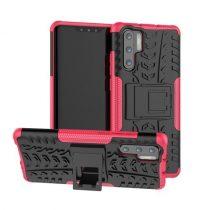 Huawei P30 Pro Ütésálló Tok Kitámasztható 2in1 Hybrid Pink