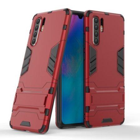 Huawei P30 Pro Tok Ütésálló - Kitámasztható TPU Hybrid Piros